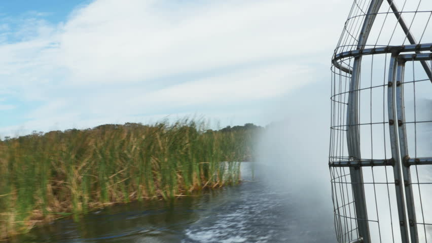 Airboat Ride Looking Back at Stock Footage Video (100% Royalty-free)  14363929 | Shutterstock