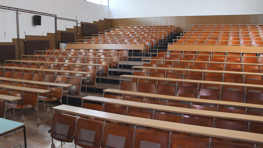 Stock Video Of Empty College Classroom University Lecture