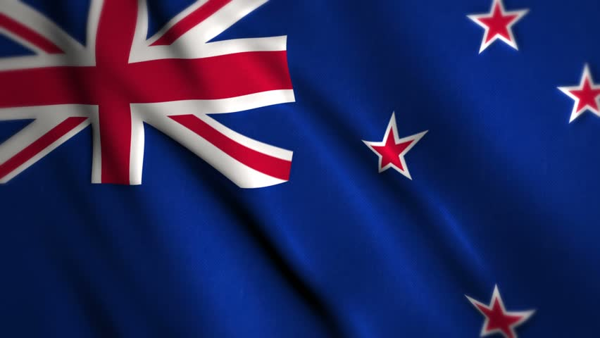 New Zealand Flag D Animation Perfect Seamless Loop Stock - New zealand flags