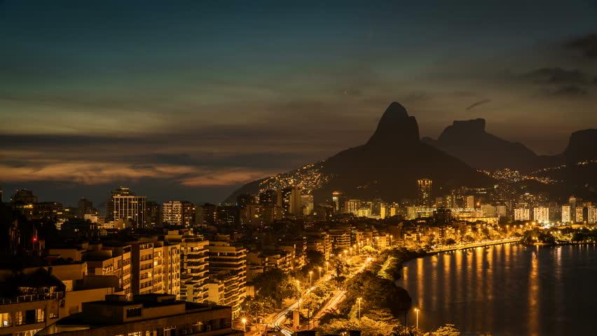 Sunset over Rio De Janeiro Mountains, Brazil. Timelapse | Shutterstock HD Video #14393989