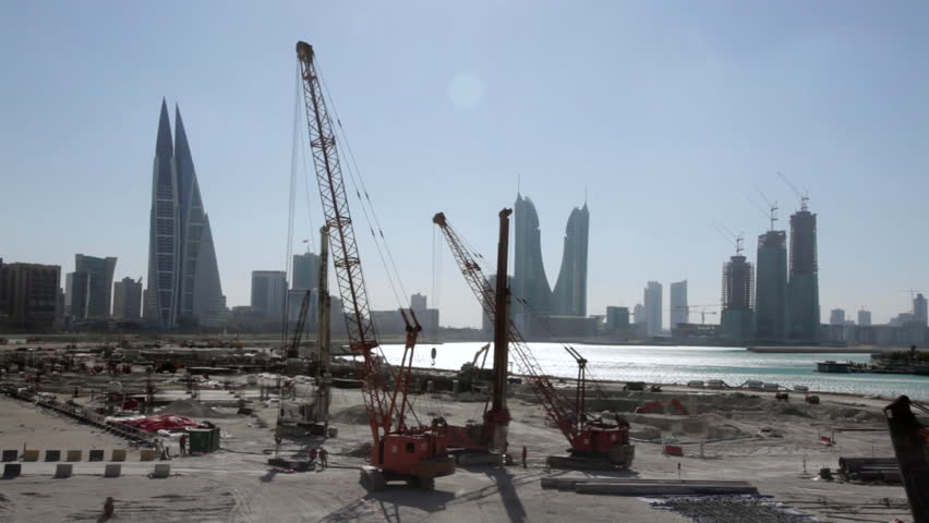 Construction Site in Bahrain with Stock Footage Video (100% Royalty-free)  14395969 | Shutterstock