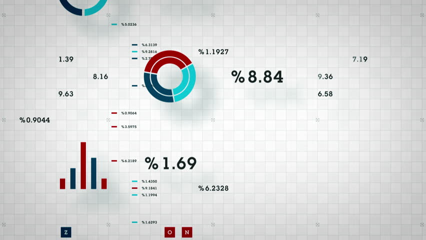 Business Data Scrolling - graphs and other business data scrolling along a grid. Available in multiple color options. All clips loop seamlessly.