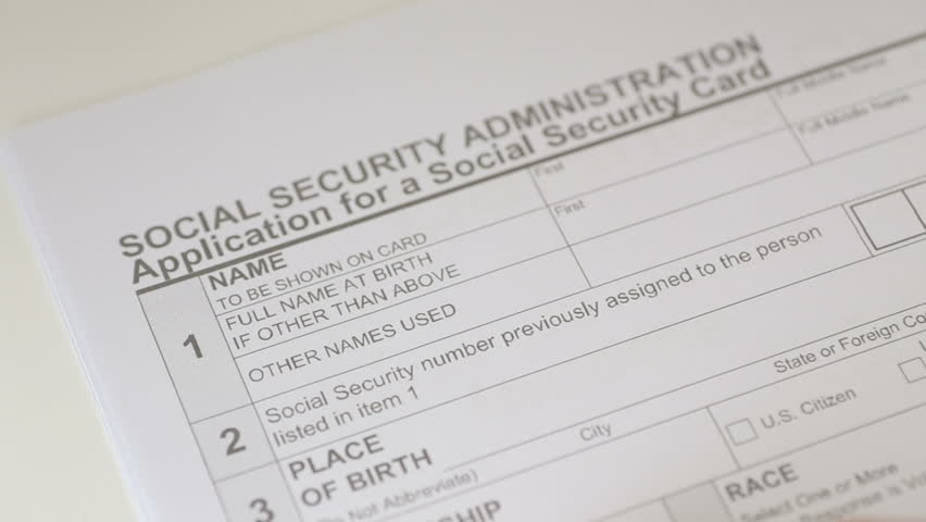 Social Security Application Form | Shot Of Man Filling Out Stock Footage Video 100 Royalty Free