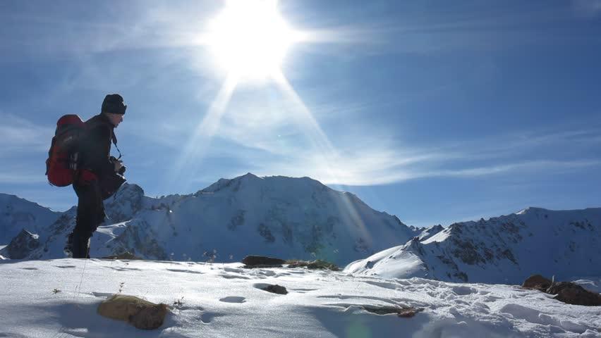 Traveler pictures of winter mountain landscape  | Shutterstock HD Video #14431039