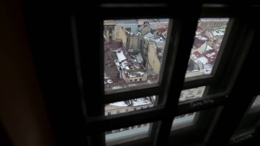 View of the Old City Through the Window | Shutterstock HD Video #14448919