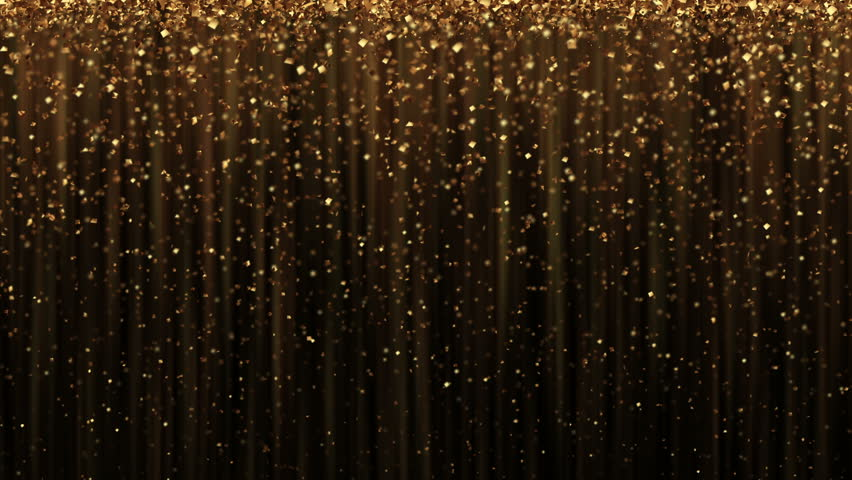 Abstract  background with golden glitter particles. Progressive scan, seamlessly loop-able.