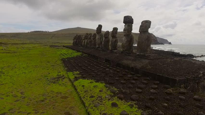 Easter Island, Chile - November 6, 2015: Easter Island, Chile - 8