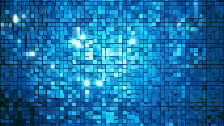 Blue Square Blocks Background Animation Throwing Glares Seamless Loop 4k Ultra Hd