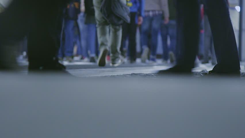 Pedestrians in the city by night | Shutterstock HD Video #14510449