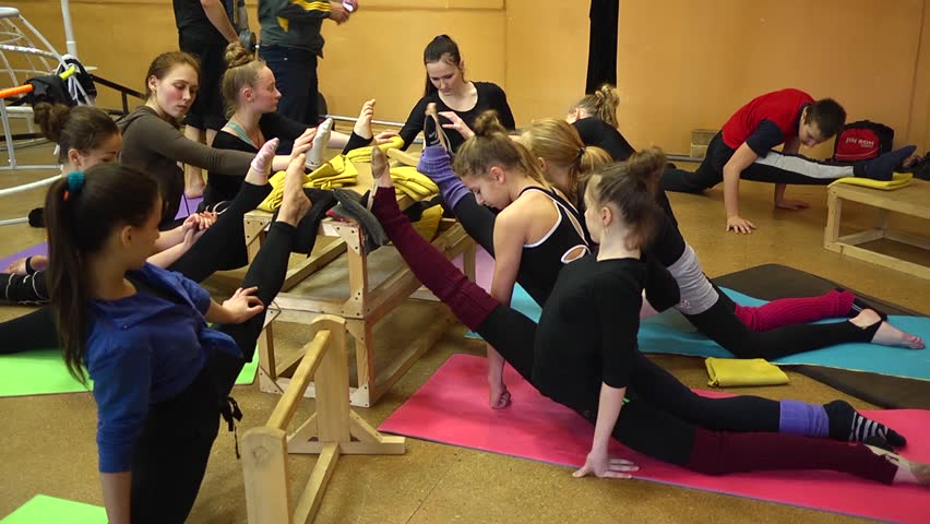 Stretching in a circus