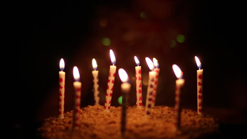 Lighting Candles On Cake And Stock Footage Video 100 Royalty Free