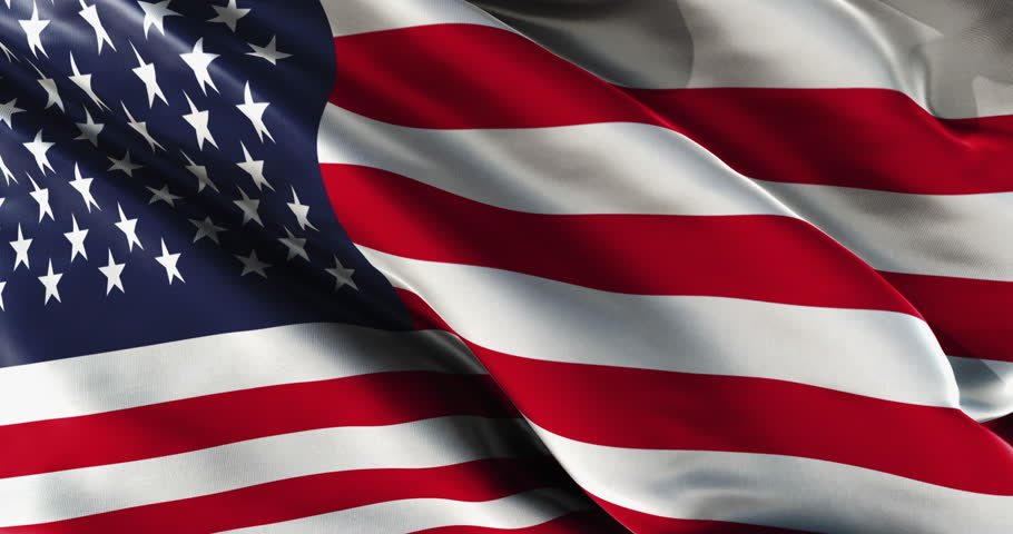 old film of american flag waving stock footage video