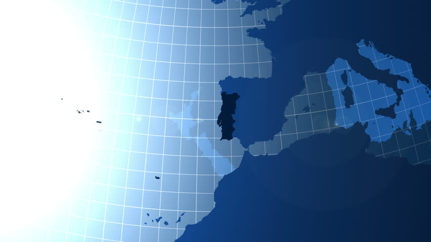 Spain Zooming Into Spain On The Globe Stock Footage Video - Portugal globe map