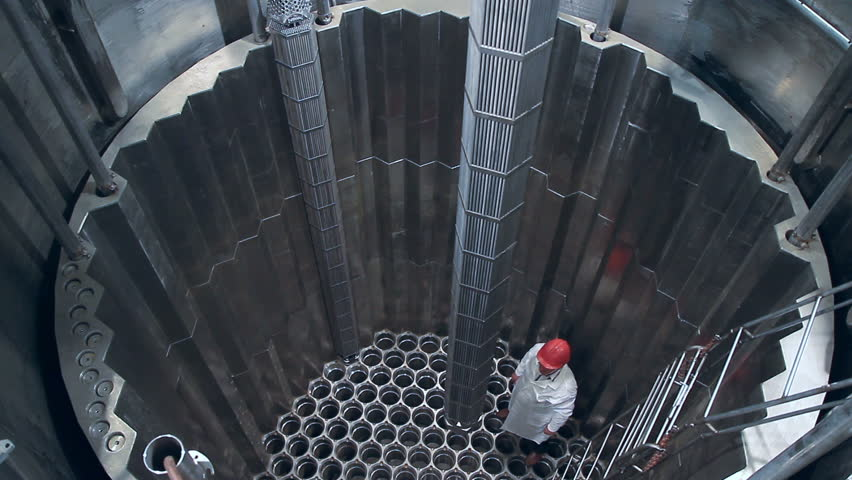 Experimental nuclear reactor. A fuel Assembly. Episode (4 shot) HD.