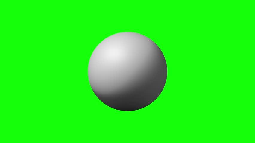 Breaking white sphere on green color key background | Shutterstock HD Video #14841265