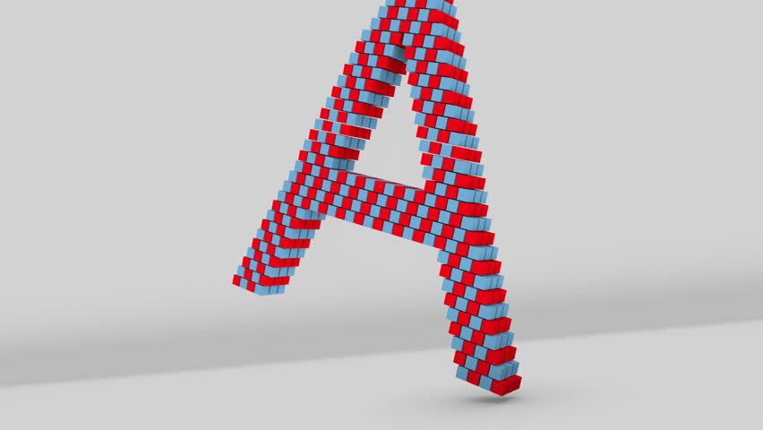 Letter a falling 3d animation clip uses realistic physics and letter a falling 3d animation clip uses realistic physics and render rendered in hd stock footage video 1485379 shutterstock thecheapjerseys Images