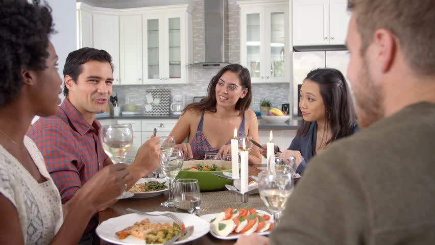 Phenomenal Friends Talking And Eating At Stock Footage Video 100 Royalty Free 14857999 Shutterstock Download Free Architecture Designs Embacsunscenecom