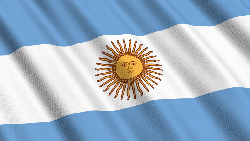 Flag Of Argentina Waving In Stock Footage Video 100 Royalty Free