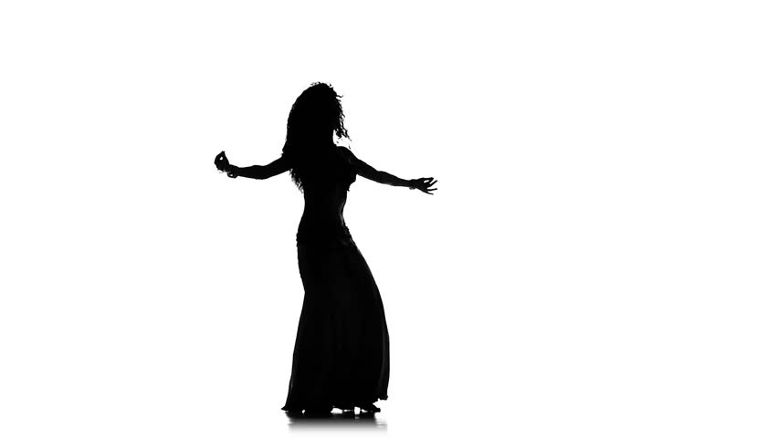 belly dancer silhouette exotic belly dancer woman dance on white silhouette stock 5954