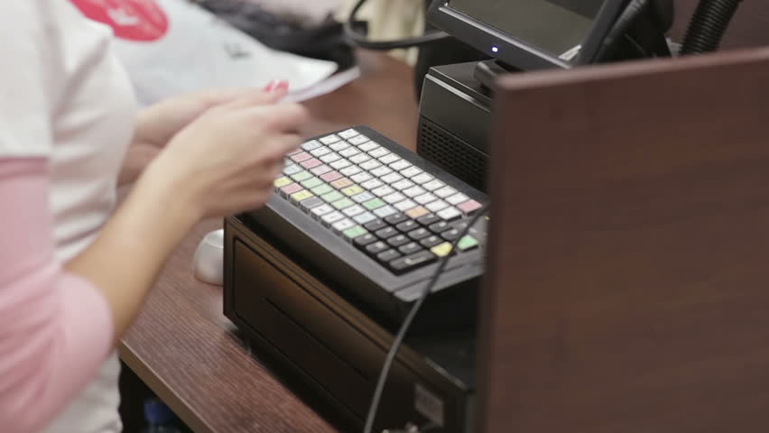 Cash register in the clothing store. payment | Shutterstock HD Video #14956072