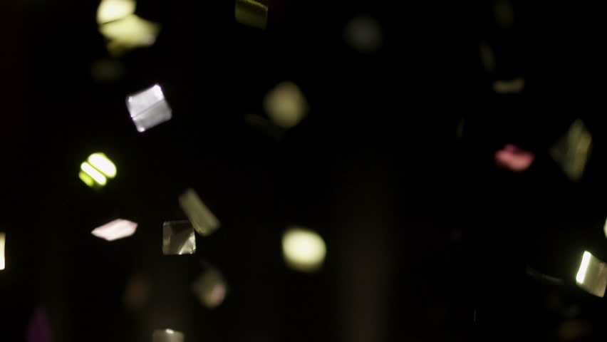 (CONFETTI - slow motion) Realistic Confetti Footage for your projects!  Use blending mode (screen).  You can speed up file 6 times (realtime), because this file 4K 120fps RED EPIC – Slow Motion.