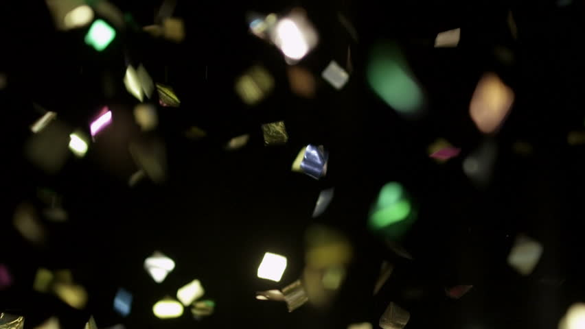 (CONFETTI - slow motion) Realistic Confetti Footage for your projects!  Use blending mode (screen).  You can speed up file 6 times (realtime), because this file 4K 120fps RED EPIC – Slow Motion.  | Shutterstock HD Video #15004582