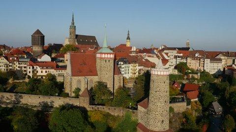 Bautzen Saxony Germany historical Aerial View