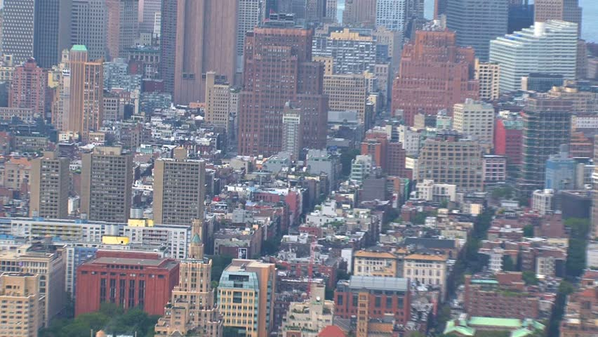 NEW YORK - CIRCA OCTOBER 2010: Aerial view of the New York City skyline circa October 2010 in New York, NY. | Shutterstock HD Video #1505294