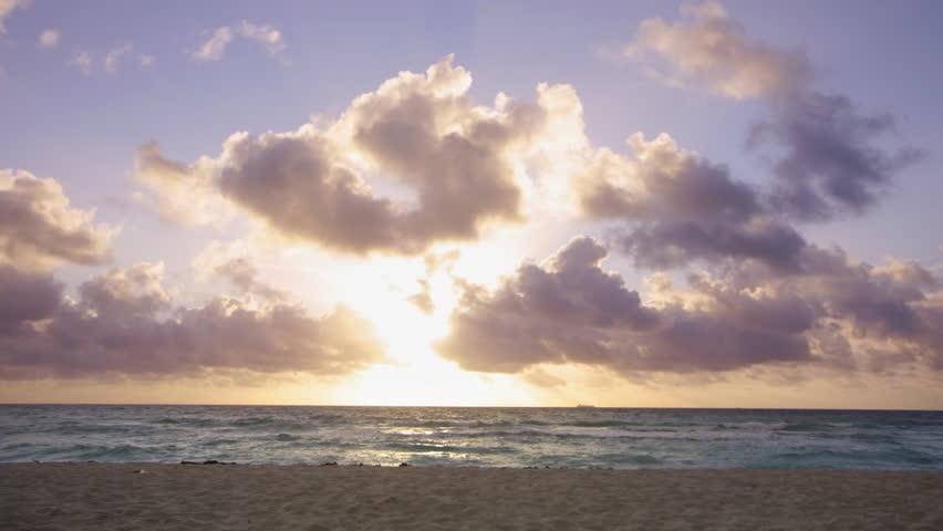 sunrise at south beach, miami, florida