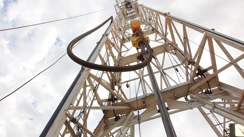 Drilling Rig Derrick looking up 2