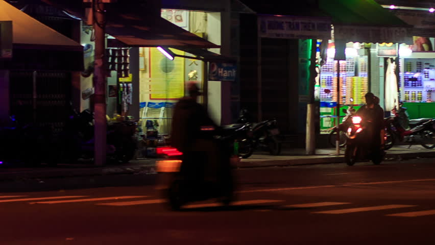 Night up left hungry i club strip club font color red b name can nha trang khanh hoavietnam february 26 2016 night scooter traffic along aloadofball Choice Image