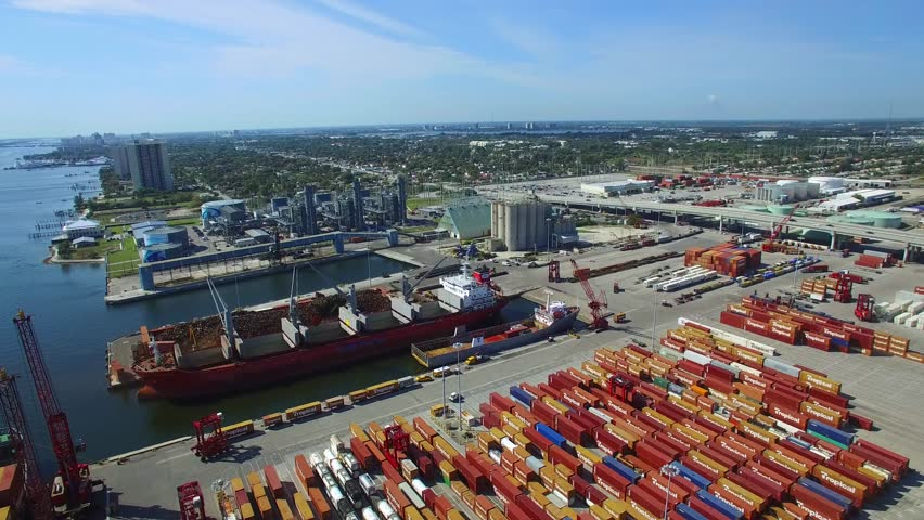Palm Beach March 1 Aerial Drone Video Of Port Located At