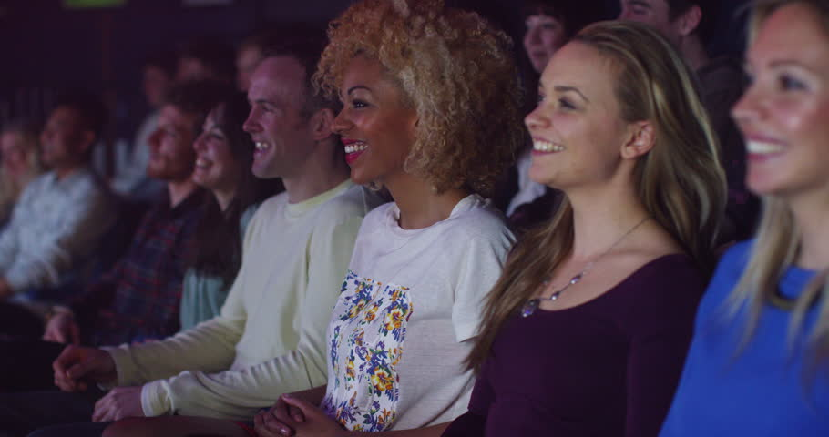 4K Theatre audience laughing at comedy show or funny movie | Shutterstock HD Video #15122194