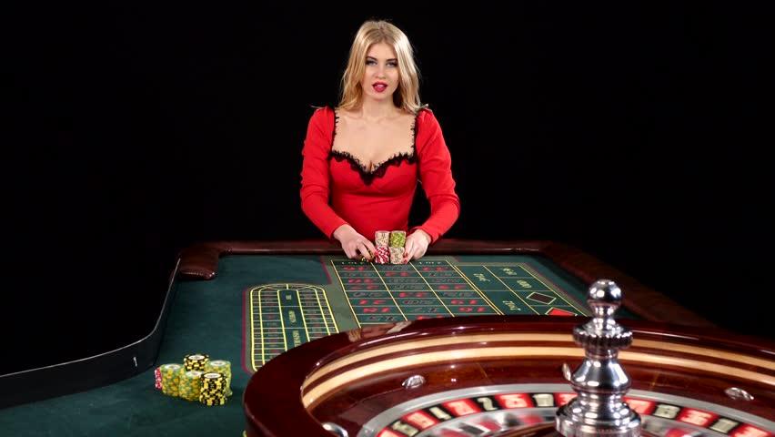Sexy Young Girl in Casino. 스톡 동영상 비디오(100% 로열티프리 ...