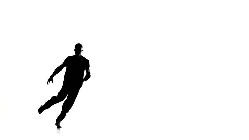 Female hip hop dancer silhouette on green background alpha man dancing breakdance professionally moves and turns white silhouette slow motion hd voltagebd Image collections