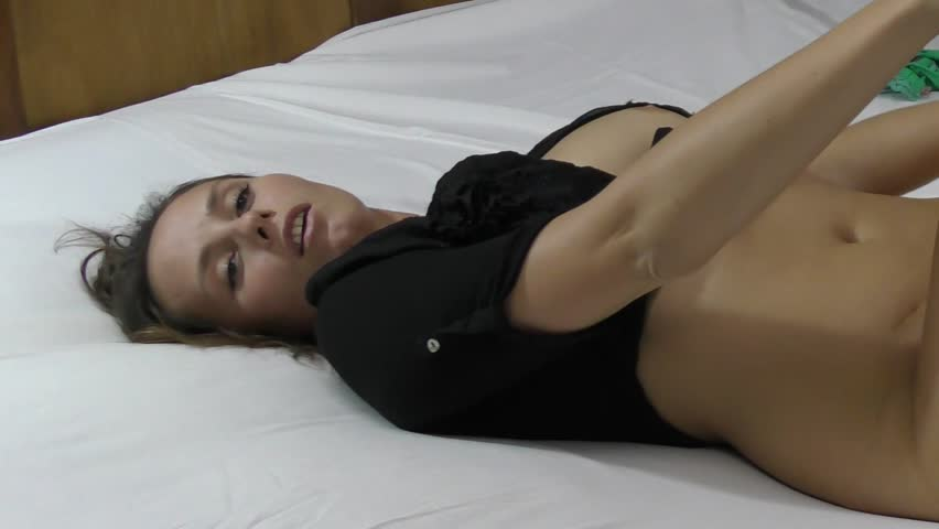 beautiful model relaxing in bed - close up part 5