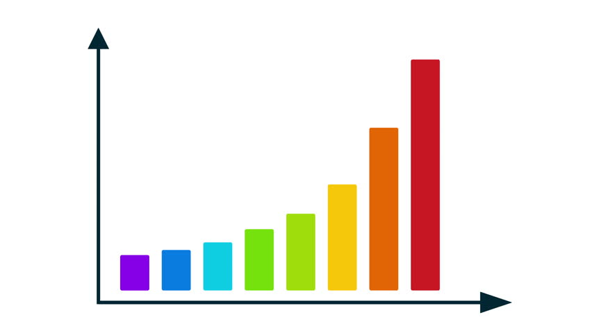 Business data market bar graph chart diagram with arrows axis bar graph chart with arrows axis grow chart business concept chart animation for yours ccuart Images