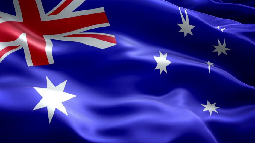 Australia National Flag. (new Surge Stock Footage Video (100 ...