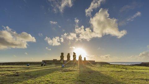 Isla de Pascua, Easter Island, Rapa Nui, Tima-Lapse, Sunrise