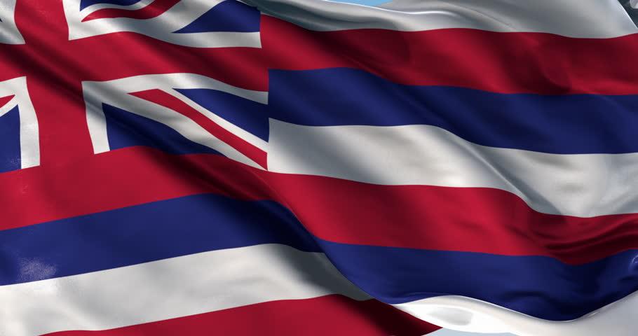 Ultra realistic looping flag: Hawaii Flag