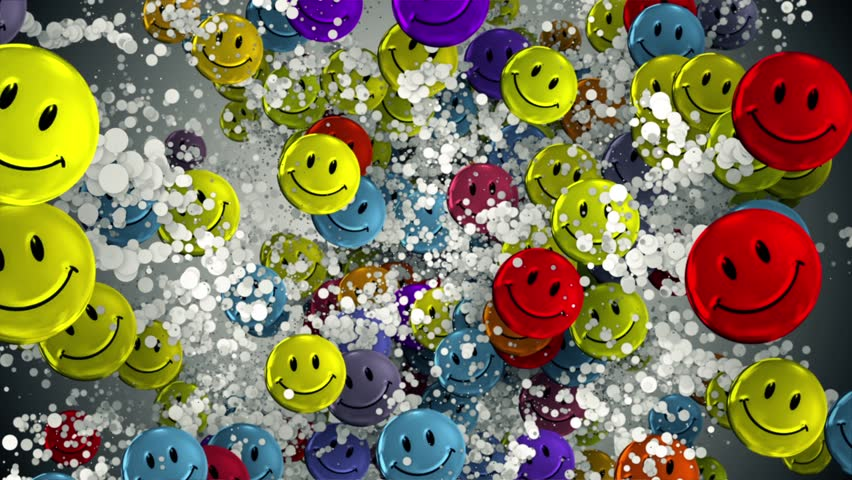 Smiley Face Explosion Background