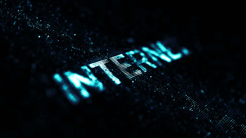 Computer theme word made of random dots on fractured string background with glow, abstract digital background with depth of field, particle style video   Shutterstock HD Video #15317299