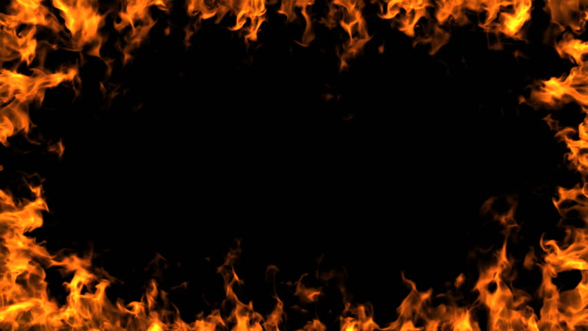 Stock video of a burning frame of fire. | 1532629 | Shutterstock