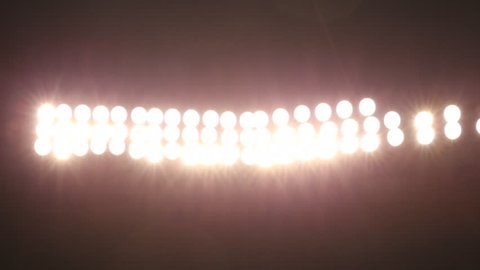 Sports stadium light bank flares / Pittsburgh, Pennsylvania - USA., August, 2014