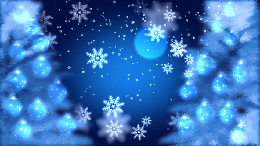 Motion graphics of snowflakes and Christmas decorations | Shutterstock HD Video #1534939