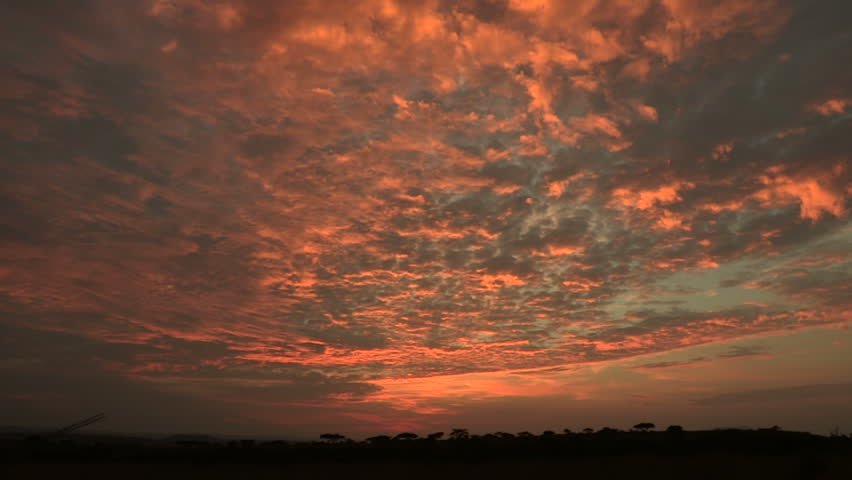 African sunrise time-lapse