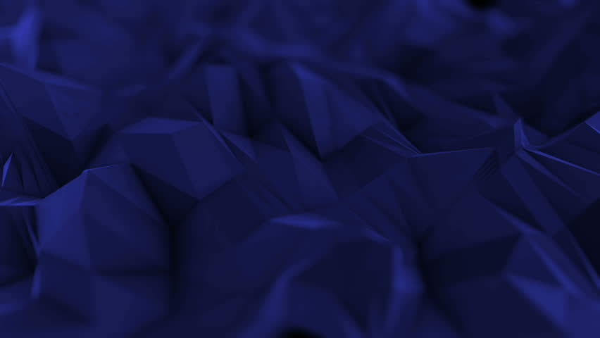 Abstract dark 3d rendered geometric background with spikes and low contrast texture, surface is devided into random sized triangles | Shutterstock HD Video #15390847