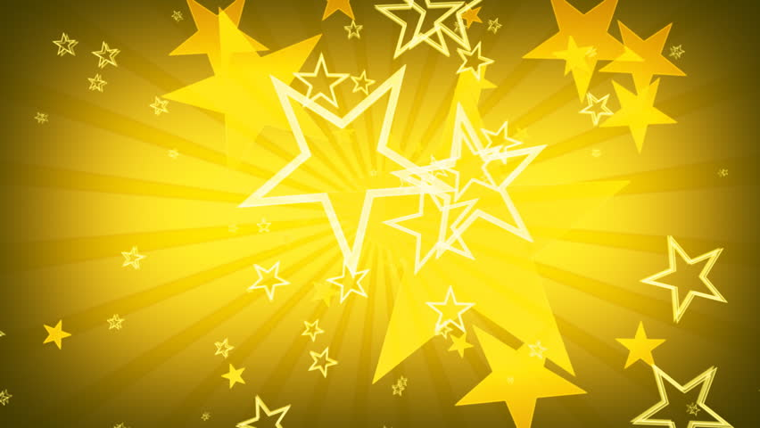 Yellow stars motion graphics | Shutterstock HD Video #1540729
