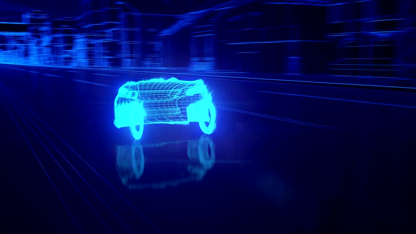 City car Wireframe View - conceptual coverts  | Shutterstock HD Video #15440974