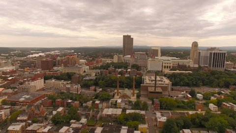 Albany Aerial v7 Flying over downtwon.